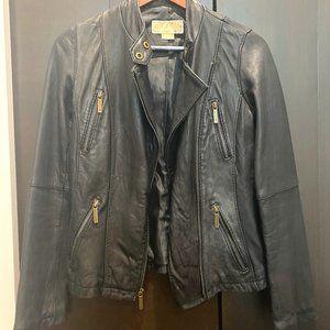 Michael Kors Lambskin Leather Jacket, SZ SM